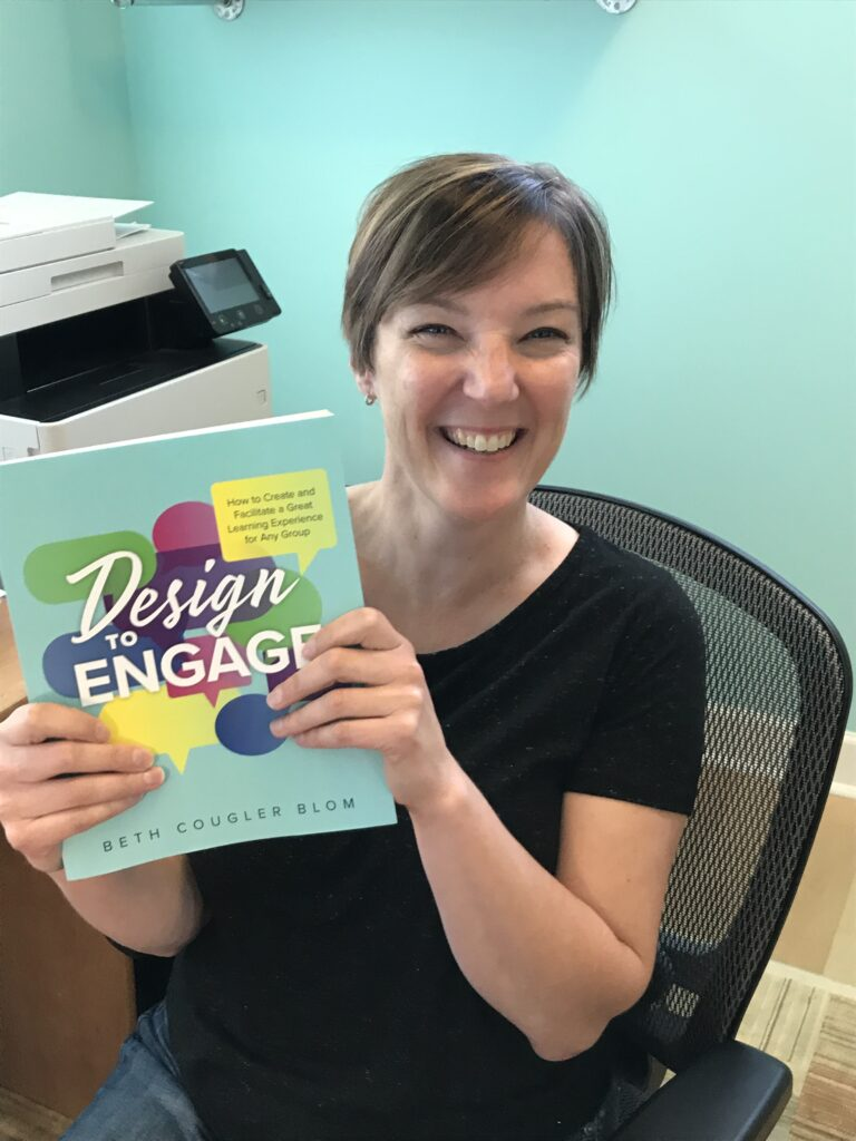Beth with Design to Engage paperback edition