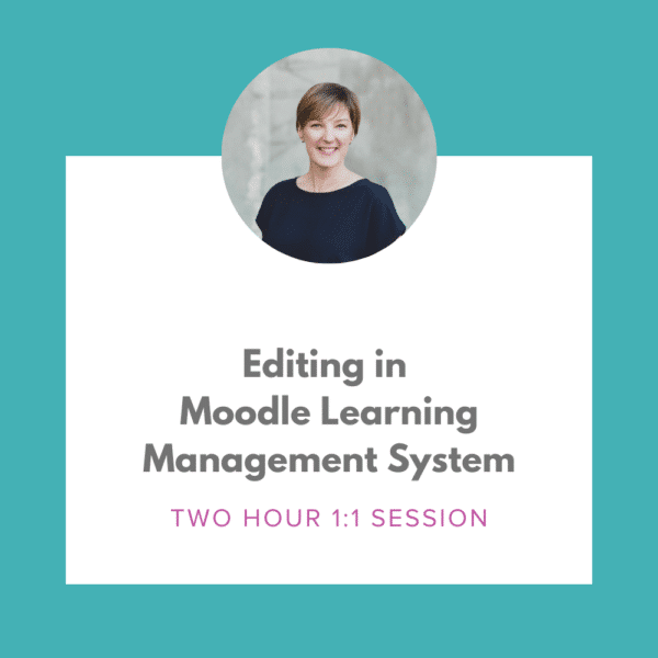 Editing in Moodle Learning Management System