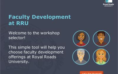 Online resource example: RRU Workshop Selector