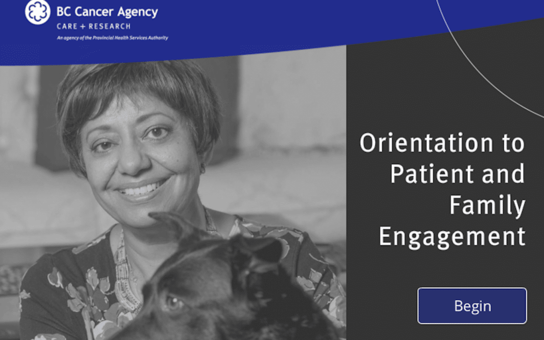 E-learning course example: Orientation to Patient & Family Engagement